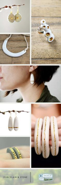 Stunning Handmade Jewelry from Porcelain and Stone