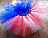 4th of July Tutu, Baby Tutu, Red White and Blue Tutu, 4th of July Outfit, Photo Prop, Pagent Tutu, Baby Tutu, Little Girl Tutu, July 4th