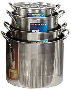 ToolUSA 4 Piece Set Of Stainless Steel Stockpots 8-20 Quart Sizes >>> You can find more details by visiting the image link.
