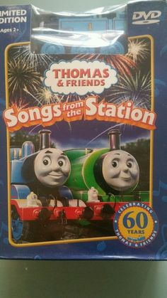 """NEW Limited Edition Thomas & Friends """"Song From The Station"""" blue Train DVD"""