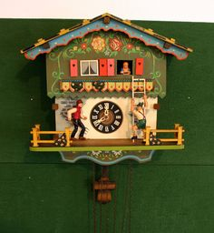 German Black Forest Cuckoo Clock Parts Or Repair E