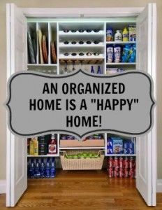 an organized home is an happy home