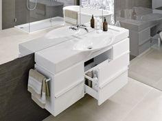 Palace vanity unit - Designer Bathroom cupboards by Laufen ✓ Comprehensive product & design information ✓ Catalogs ➜ Get inspired now Bathroom Suite, Vanity Units, Vanity, Bathroom Sets, Bathroom Layout, Bathroom Furniture Design, Laufen Bathroom, Kitchen Showroom, Bathroom Design