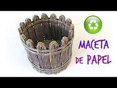 Cómo hacer una maceta de papel. How to make a garden pot. - YouTube