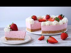 TARTA de FRESAS con NATA ¡¡Sin Horno!! - YouTube Chocolate Cheesecake, Deserts, Good Food, Sweets, Snacks, Cooking, Youtube, Diy, Gourmet