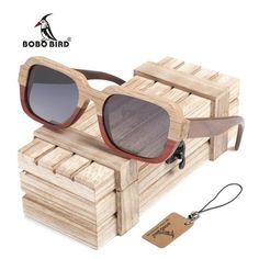 05dc1615b4 BOBO BIRD Two Tone Handmade Wooden Bamboo Sunglasses with UV lenses and  wooden box