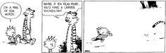 Calvin & Hobbes by Bill Watterson. June 10, 1995 - I'm a man of few words