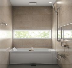 Japanese Bathroom, Dog Milk, Corner Bathtub, Sunroom, Old Things, House, Modern Bathrooms, Houses, Walls