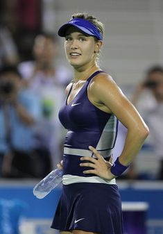 9/25/14 Genie Into Wuhan SFs! #6-Seed Eugenie Bouchard def. Alize Cornet 6-3, 7-5 in the QFs of the Inaugural Wuhan Open.