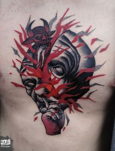Conheça a tatuagem surrealista do polonês Lukasz Sokolowski