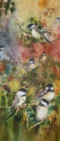 medium Aquarelle - Peinture - Francine Bouchard