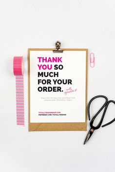Small business thank you postcards google search thank you cards business thank you cards instant download brightly bold reheart Image collections