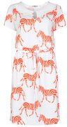 Orla Kiely Women's Scallop Collar Dress - White/Fluro Pink on shopstyle.co.uk
