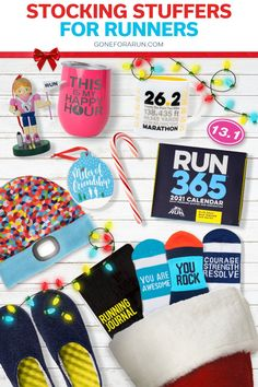 Stocking stuffers are a great way to give your loved ones small trinkets that don't make up full gifts on their own. Sometimes, a well-curated group of stocking stuffers can rival even the best of larger gifts. Find the best stocking stuffers for runners in the selection from Gone For a Run. These small running gifts include running gear, recovery apparel, footwear, accessories, jewelry, Christmas tree ornaments, drink ware and even stationery.