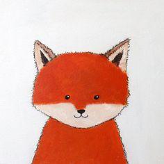 Woodland Nursery Art Owl Fox and Bear by TreeHollowDesigns