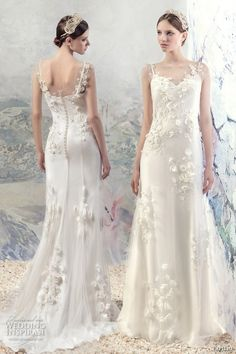PAPILIO 2016 bridal sleeveless spagetti strap sweetheart neckline full embellishment bodice romantic sheath wedding dress sweep train (1615lab rhine) mv #bridal #wedding #weddingdress #weddinggown #bridalgown #dreamgown #dreamdress #engaged #inspiration #bridalinspiration #weddinginspiration #weddingdresses