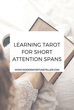 Learning Tarot for Short Attention Spans - Modern Fortune Teller