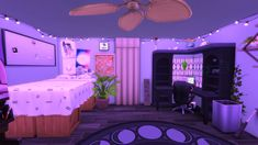 Dorm Layout, Dorm Room Layouts, Dorm Rooms, Room Design Bedroom, Room Ideas Bedroom, Dream Bedroom, Room Perspective Drawing, Korean Apartment Interior, Casa Anime