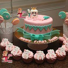 Dental Cake, Medical Cake, Baby First Birthday, Birthday Cake, Marshmallow Tree, School Cupcakes, Sunshine Birthday Parties, Tooth Cake, Yellow Birthday
