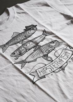 Illustration Hipster Fish