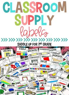 These school supply labels are perfect for getting your classroom organized. These classroom labels include 120 different options and come in 2 different sizes.