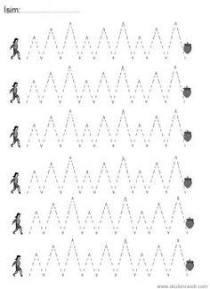 Çizgi çalışma sayfaları. Line worksheets. Líneas de trabajo. Линейные листы.