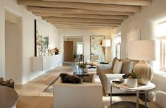 Camino Santander, Santa Fe Residence - modern - living room - R Brant Design. Beige Living Rooms, Living Room Colors, Living Room Designs, Living Spaces, Design Studio, House Design, Design Design, Design Elements, Home Interior Design