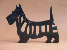Scottie Scottish Terrier Dog Puzzle Wooden Toy Hand Cut with Scroll Saw by Puzzimals on Etsy https://www.etsy.com/listing/59365179/scottie-scottish-terrier-dog-puzzle