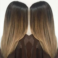 straight hair balayage brown - Google Search