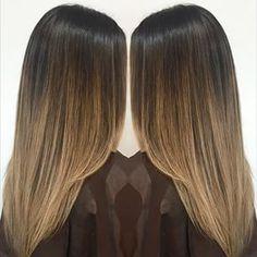 straight hair balayage brown - Google Search