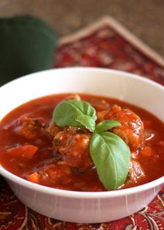 Italian Meatball and Vegetable Soup - Our take on meatballs is grain ...