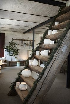 I like the room itself and the rustic stairs - not so much the decor.