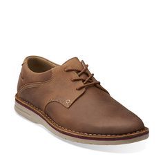 Sandover Walk in Tan Leather - Mens Shoes from Clarks