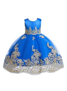 c4f697eab In Stock Ship in 48 Hours Royal Blue Tulle Lace Appliques Flower Girl Dress  With Sash. Vestidos Para Niñas PequeñasVestido MoradoVestidos Azul ...