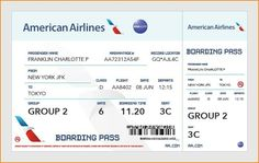 Best Airline Ticket Template Example for Boarding Pass with Passenger and Flight Information Detail : Thogati If you like this surprise travel trip. Check others on my surprise vacation board :) Thanks for sharing! Disney Tickets, Air Tickets, Airline Tickets, Air France, Ticket Template Free, Receipt Template, First Class Plane, Boarding Pass Template, Ticket Design