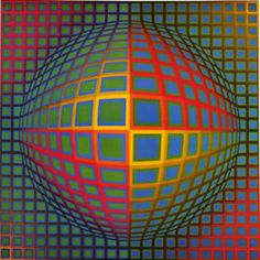 Victor Vasarely | Art History at PEAVega-Nor (1969), acrylic on canvas, 200 x 200 cm
