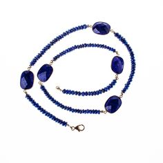 Lapis Lazuli 24K Gold Vermeil Necklace from Wanderlust Jewels LLC for $300.00