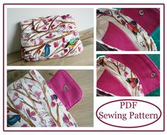 Clutch Purse Sewing Pattern - PN208 Sewing Instructions PDF Download on Etsy, $6.90 AUD