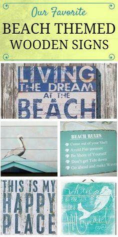 Wooden Beach Signs Decor Gorgeous Best Wooden Beach Signs  Beachfront Decor  Rustic Modern 2018