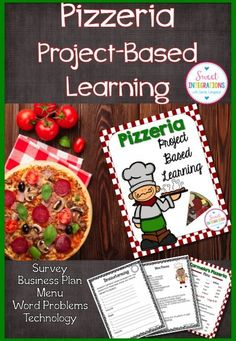 PROJECT BASED LEARNING MATH: OPEN A PIZZERIA Writing, and Technology - Use this 40 page resource with your 3rd, 4th, 5th, or 6th grade classroom or home school students. Students will open their own pizzeria restaurant wit this student-centered PBL unit. It involves collaboration and differentiation by giving student choice. GATE, economics, writing, and more can all be utilized. Students will investigate cultures, diversity, and complete their final project. {upper elementary, technology}