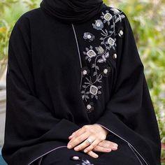Image may contain: one or more people Niqab Fashion, Modesty Fashion, Fashion Outfits, New Abaya Style, Hijab Style, Abaya Designs Dubai, Burqa Designs, Modern Abaya, Black Abaya