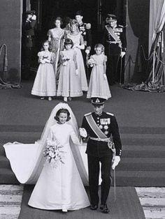 Príncipe heredero Harlad de Noruega & Srta Sonja Haraldsen