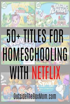 These titles for homeschooling with Netflix are great to use in your homeschool any time of year. These Netflix titles feature animals, nature, history, science, literature, and more. Homeschool Kindergarten, Preschool Learning, Learning Activities, Teaching Kids, Online Homeschooling, Homeschooling Statistics, Learning Quotes, Toddler Learning, Teaching Strategies
