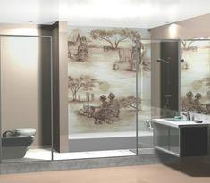 orientalisch wandmalerei gestaltung badezimmer waschbecken