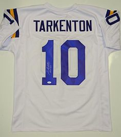 6278d3e54 Signed Fran Tarkenton Jersey White Pro Style W HOF W JSA Certified  Autographed NFL Jerseys *