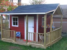 This looks like a great play house. I have modified the plans to allow it to suit a higher age group as well.