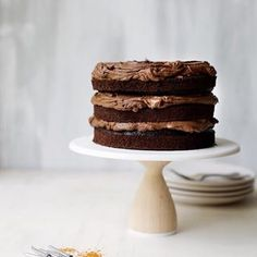 Still PRETTY obsessed with this double chocolate fudge layer cake from @stylesweetca's new book Layered. I mean....look at it!  link in profile! xx Sarah