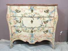 1950s Hand Painted French Style Chest on Chairish.com