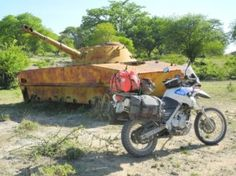 RUSTED UP RUSSIAN TANK IN ANGOLA