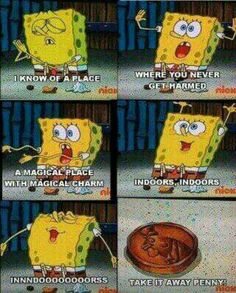 "When SpongeBob perfectly expressed the struggle of feeling anxious in social settings. 25 Times ""SpongeBob SquarePants"" Got Way Too Real Pikachu, Pokemon, Funny Spongebob Memes, Funny Memes, Spongebob Songs, Best Spongebob Quotes, Spongebob Cartoon, Cartoon Crazy, Spongebob Patrick"